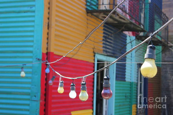 Photograph - La Boca Lightbulbs by Wilko Van de Kamp