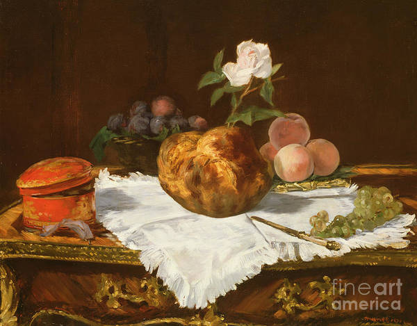 Pastries Painting - La Brioche by Edouard Manet