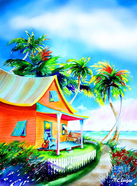 Painting - La Casa Cayo Hueso by Phyllis London