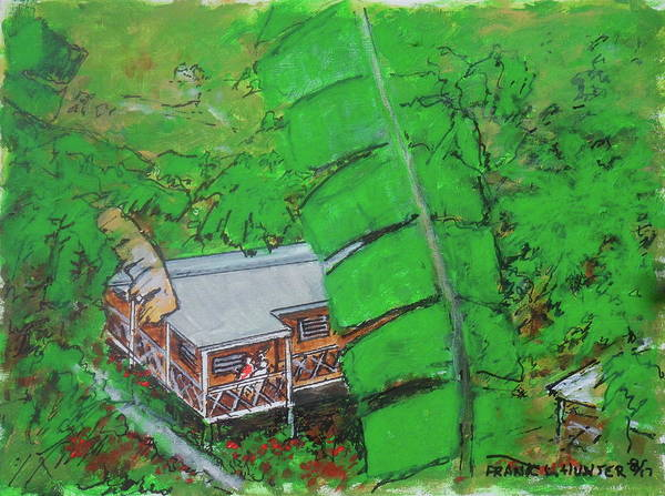 Painting - La Casa Grande Mountain Retreat Utuado Puerto Rico by Frank Hunter