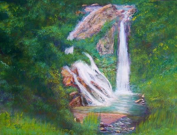 Painting - La Ceiba Waterfall by Tony Rodriguez