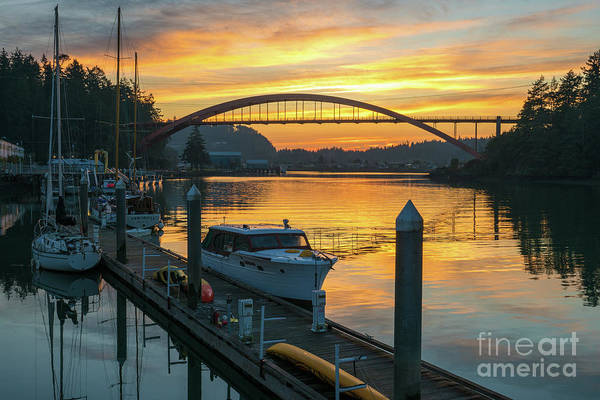 Wall Art - Photograph - La Conner Swinomish Channel Sunset Serenity by Mike Reid