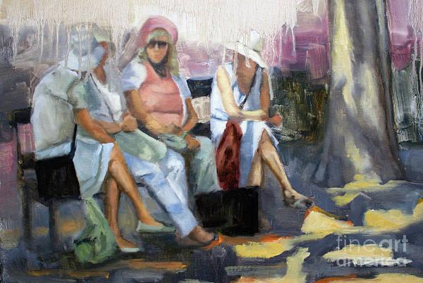 Wall Art - Painting - La Conversation by Tate Hamilton