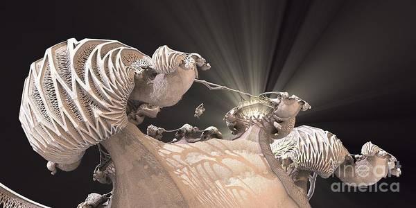 Digital Art - La Corazon De La Familia by Jon Munson II