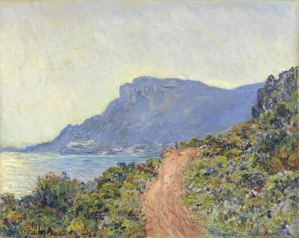 Wall Art - Painting - La Corniche Near Monaco, Claude Monet, 1884 by Celestial Images