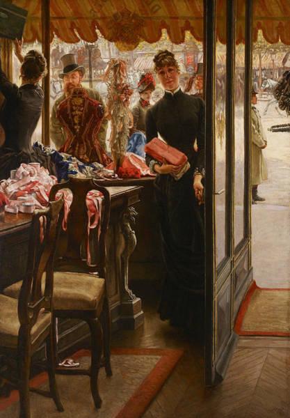 Painting - La Demoiselle De Magasin by James Tissot