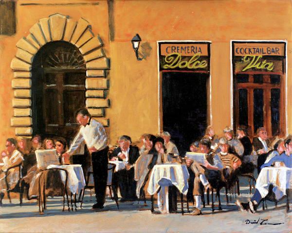 Dining Al Fresco Painting - La Dolce Vita by David Zimmerman