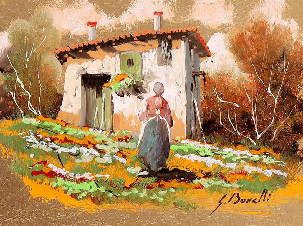 Lady Painting - La Donzelletta by Guido Borelli