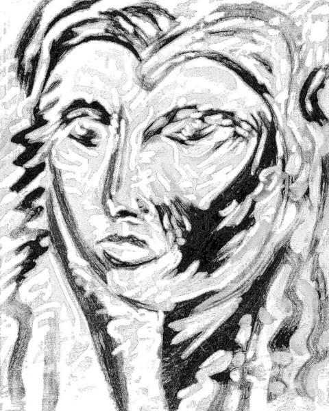 Ranchera Wall Art - Digital Art - La Dreamer In Black And White-10 by Jimmy Longoria
