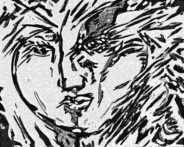 Ranchera Wall Art - Digital Art - La Dreamer In Black And White -3  by Jimmy Longoria