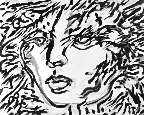 Ranchera Wall Art - Digital Art - La Dreamer In Black And White-4 by Jimmy Longoria