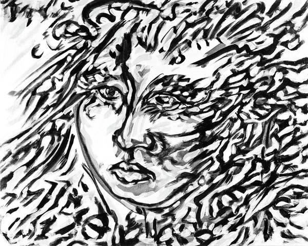 Ranchera Wall Art - Digital Art - La Dreamer In Black And White-5 by Jimmy Longoria