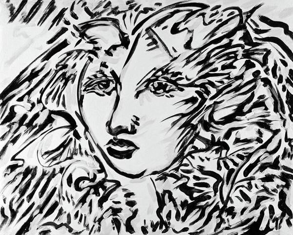 Ranchera Wall Art - Digital Art - La Dreamer In Black And White-6 by Jimmy Longoria