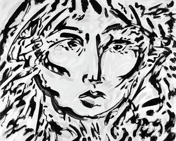 Ranchera Wall Art - Digital Art - La Dreamer In Black And White-8 by Jimmy Longoria