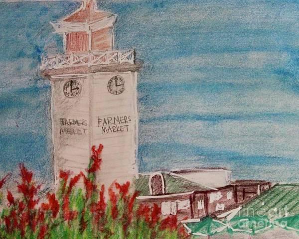 La Farmer's Market Art Print