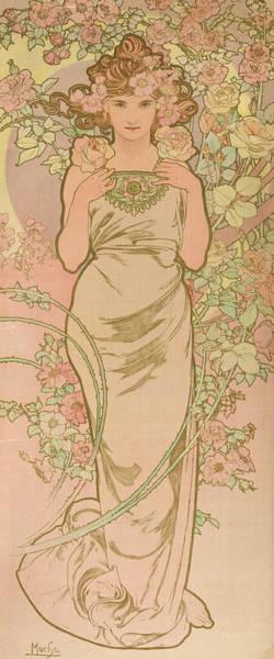 Mucha Painting - La Femme Animee En Fleur by Alphonse Mucha