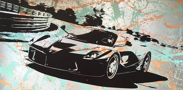 Streetart Mixed Media - La Ferrari by Diana Eger