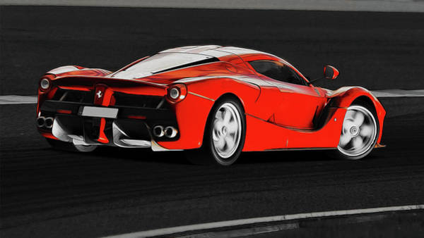 Photograph - La Ferrari Supercar - 3 by Andrea Mazzocchetti