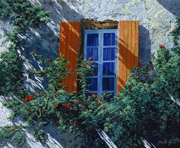 Light Blue Painting - La Finestra E Le Ombre by Guido Borelli