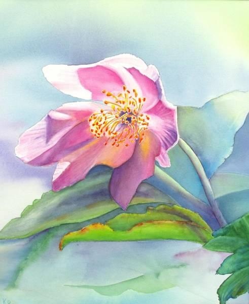 Painting - La Fleur Rose by Karen Fleschler