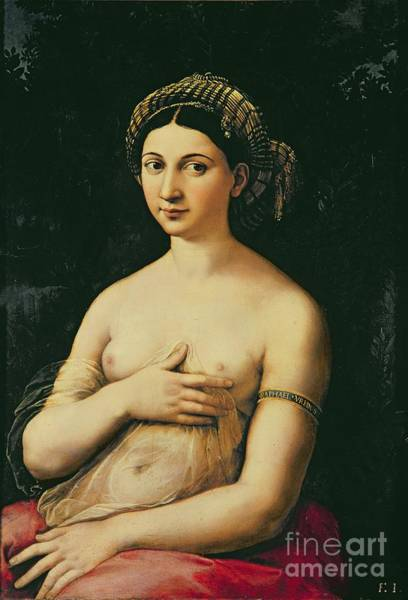 Wall Art - Painting - La Fornarina by Raphael