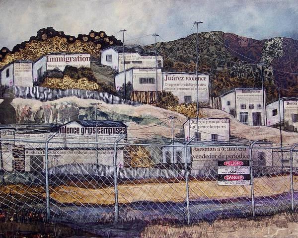 Border Mixed Media - La Frontera by Candy Mayer
