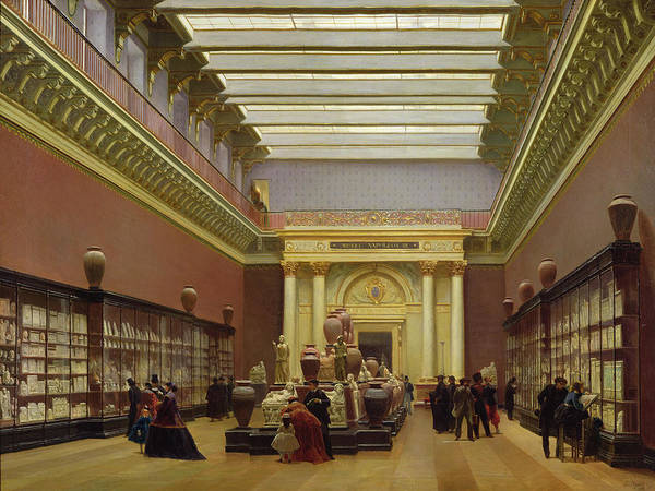 Terracotta Painting - La Galerie Campana by Charles Giraud
