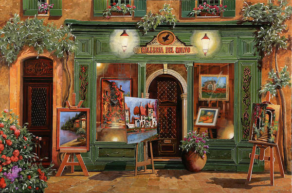 Wall Art - Painting - La Galleria Del Corvo by Guido Borelli