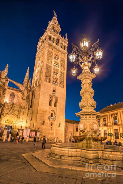 Square Tower Photograph - La Giralda by Delphimages Photo Creations