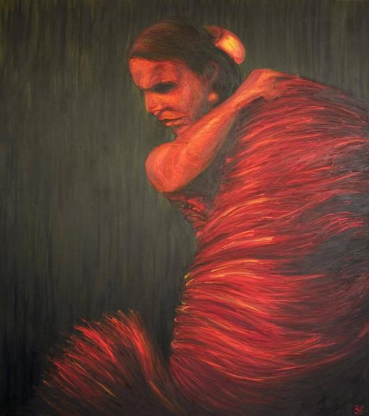 Gitana Wall Art - Painting - La Gitana by LB Zaftig