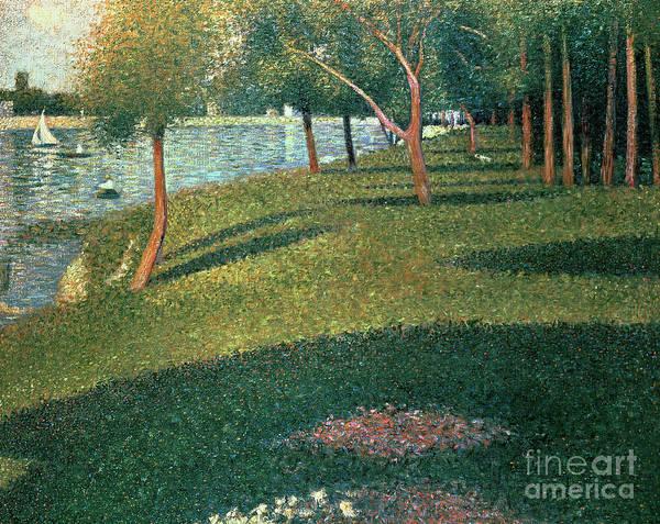 Crt Painting - La Grande Jatte by Georges Pierre Seurat