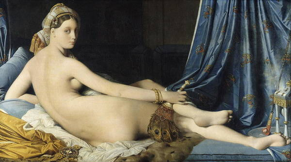 Perfect Body Painting - La Grande Odalisque by Jean-Auguste-Dominique Ingres