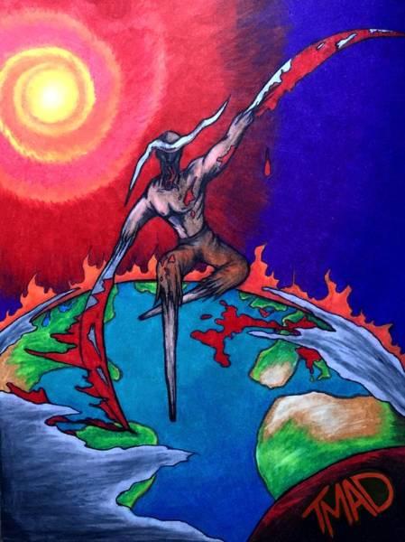 Mixed Media - la Grande Reaper by Michael  TMAD Finney