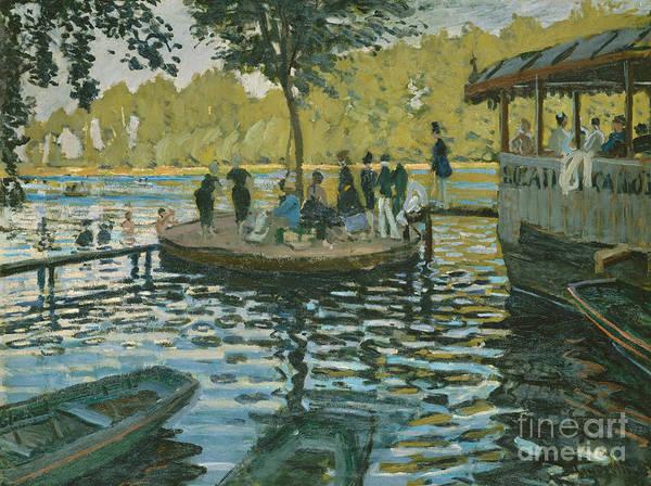 Punt Painting - La Grenouillere, 1869  by Claude Monet