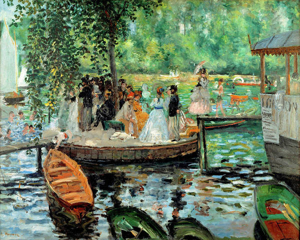 Painting - La Grenouillere By Auguste Renoir 1869 by Movie Poster Prints