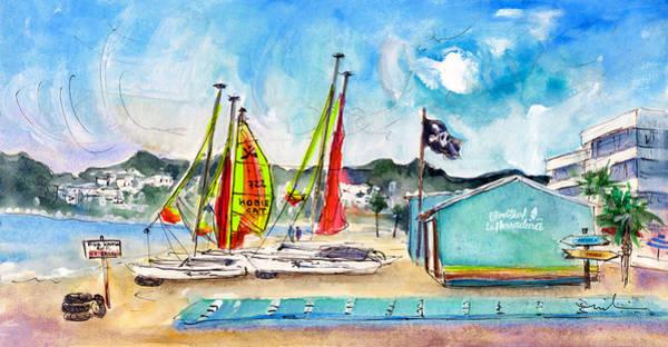 Wall Art - Painting - La Herradura Windsurf School by Miki De Goodaboom