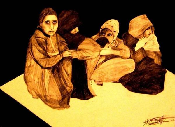 Drawing - La It Khafeen Habibti by MB Dallocchio