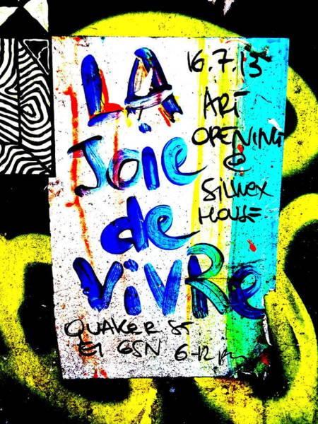 Wall Art - Photograph - La Joie De Vivre In London by Funkpix Photo Hunter