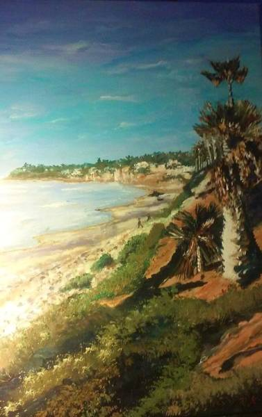 Painting - La Jolla Beach by Ray Khalife