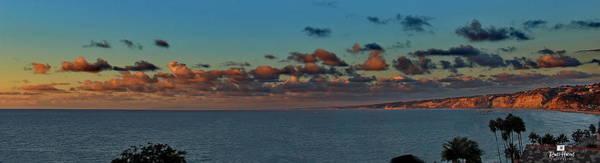 La Jolla Cliffs - Panorama Sunset Art Print
