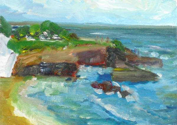 Painting - La Jolla Cove 022 by Jeremy McKay