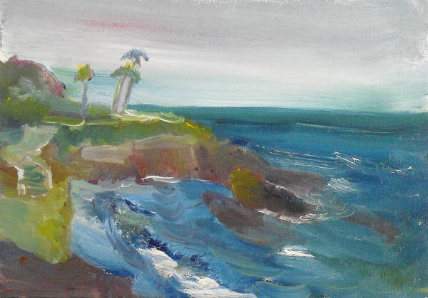 Painting - La Jolla Cove 028 by Jeremy McKay