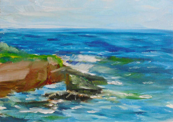 Painting - La Jolla Cove 052 by Jeremy McKay