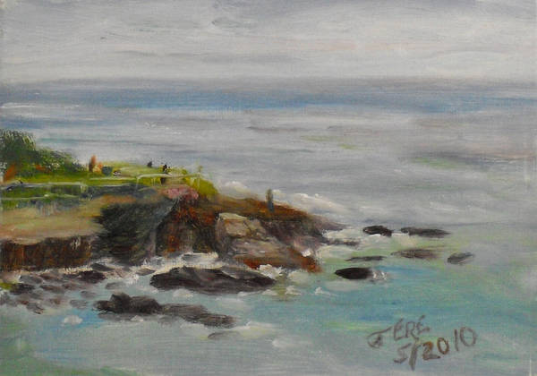 Painting - La Jolla Cove 053 by Jeremy McKay