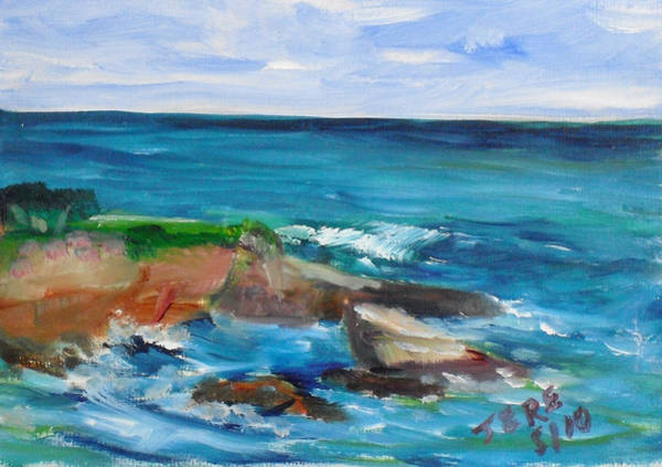 Painting - La Jolla Cove 055 by Jeremy McKay
