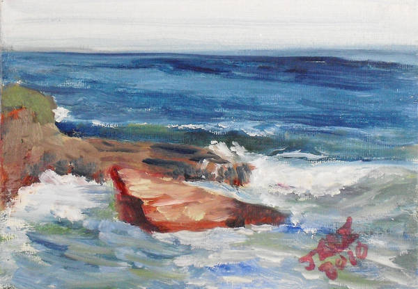 Painting - La Jolla Cove 057 by Jeremy McKay