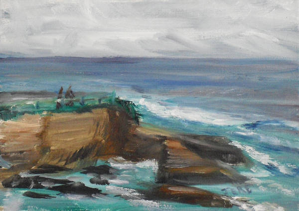 Painting - La Jolla Cove 062 by Jeremy McKay