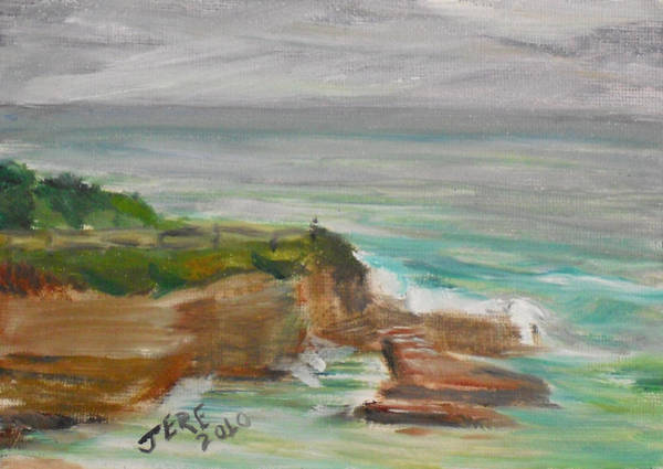 Painting - La Jolla Cove 073 by Jeremy McKay