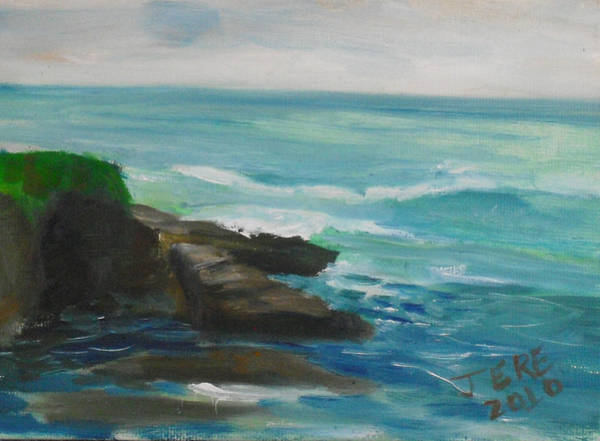 Painting - La Jolla Cove 077 by Jeremy McKay