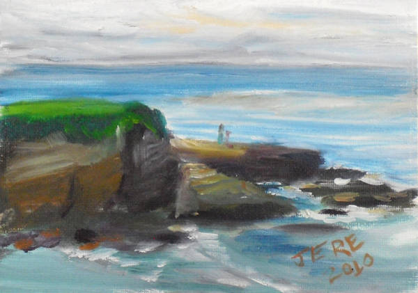 Painting - La Jolla Cove 085 by Jeremy McKay
